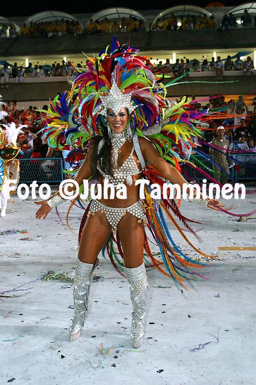 02.03.2003, Rio de Janeiro, Brazil..Carnaval 2003 - Desfile das Escolas de Samba, Grupo Especial / Carnival 2003 - Parades of the Samba Schools..Desfile de / Parade of:  GRES Acadmicos do Grande Rio .©Juha Tamminen