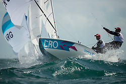 06.08.2012, Bucht von Weymouth, GBR, Olympia 2012, Segeln, im Bild Fantela Sime, Marenic Igor, (CRO, 470 Men) // during Sailing, at the 2012 Summer Olympics at Bay of Weymouth, United Kingdom on 2012/08/06. EXPA Pictures © 2012, PhotoCredit: EXPA/ Juerg Kaufmann ***** ATTENTION for AUT, CRO, GER, FIN, NOR, NED, POL, SLO and SWE ONLY!