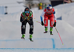 19.01.2019, Idre Fjall, Idre, SWE, FIS Weltcup Ski Cross, im Bild Semifinal Thompson and Smith // during the FIS Ski Cross World Cup at the Idre Fjall in Idre, Sweden on 2019/01/19. EXPA Pictures © 2019, PhotoCredit: EXPA/ Nisse Schmidt<br /> <br /> *****ATTENTION - OUT of SWE*****