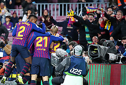 January 30, 2019 - Barcelona, Spain - Fc Barcelona players celebration during the match between FC Barcelona and Sevilla FC, corresponding to the secong leg of the 1/4 final of the spanish cup, played at the Camp Nou Stadium, on 30th January 2019, in Barcelona, Spain. Photo: Joan Valls/Urbanandsport /NurPhoto. (Credit Image: © Joan Valls/NurPhoto via ZUMA Press)