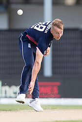 England's Tom Curran bowls a delivery against New Zealand in the fourth one day cricket international at the University of Otago Oval, Dunedin, New Zealand, Wednesday, March 7, 2018. Credit:SNPA / Adam Binns ** NO ARCHIVING**