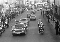 American President Richard Nixon's Motor Cavalcade passing the Ambassador Theatre going to Parnell Square, circa October 1970 (Part of the Independent Newspapers Ireland/NLI Collection).