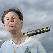 Mary Gerrity, 65, a retired public bus driver and a softball player in the 44-team Chicago Metropolitan Sports Association (CMSA) lesbian softball league, is competing in the Gay Games VII. She is photographed at Lake Shore Park in Chicago, Illinois, April 24, 2006. ..Over 12,000 gay and lesbian athletes from 60 countries are in Chicago competing in 30 sports during the Games from July 15 through 22, 2006. Over 50,000 athletes have competed in the quadrennial Games since they were founded by Dr. Tom Wadell, a 1968 Olympic decathlete, and a group of friends in San Francisco in 1982, with the goal of using athletics to promote community building and social change. The Gay Games resemble the Olympics in structure, but the spirit is one of inclusion, rather than exclusivity. There are no qualifying events or minimum or maximum requirements. The Games have been held in Vancouver (1990), New York (1994), Amsterdam (1998), and Sydney (2002).
