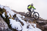 Tom Gammell at the top of stage one of the Kinlochleven Enduro.