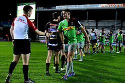 Harlequins shakes hands with Exeter Braves after the final whistle of the match - Mandatory by-line: Ryan Hiscott/JMP - 25/11/2019 - RUGBY - Sandy Park - Exeter, England - Exeter Braves v Harlequins - Premiership Rugby Shield