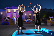 "Vienna. MuseumsQuartier (MQ Vienna) is celebrating its 10th year..""Sofamaschine (Sofa Machine)"", a modern dance performance by Hubert Lepka and Lawine Torren, is an hommage to the Museum Quarter's famous polyester sofas, the so called ""Enzos""."
