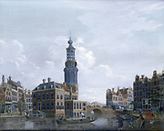 View of the Mint Tower at Amsterdam. 1777. Artist, Isaak van Ouwater (1750-1793). Oil on wood. Private collection.