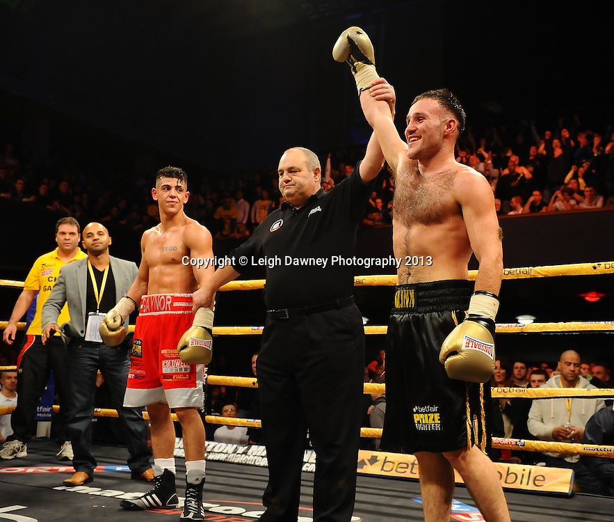Glenn Foot defeats Chad Gaynor in Semi Final Two at Welterweights 111, Civic Hall Wolverhampton. on the 19th January 2013. Matchroom Sport/ Prizefighter © Leigh Dawney 2013