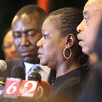Sybrina Fulton, the mother of Trayvon Martin, addresses the crowd on stage during a rally for the shooting of Trayvon Martin on Thursday, March 22, 2012 at Fort Mellon Park in Sanford, Florida. (AP Photo/Alex Menendez) Trayvon Martin rally in Sanford, Florida.
