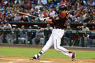 PHOENIX, AZ - MAY 28:  Jake Lamb #22 of the Arizona Diamondbacks hits a two the first inning against the San Diego Padres at Chase Field on May 28, 2016 in Phoenix, Arizona.  (Photo by Jennifer Stewart/Getty Images)