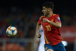 March 23, 2019 - Valencia, Valencia, Spain - Marco Asensio of Spain during the 2020 UEFA European Championships group F qualifying match between Spain and Norway at Estadi de Mestalla on March 23, 2019 in Valencia, Spain. (Credit Image: © Jose Breton/NurPhoto via ZUMA Press)