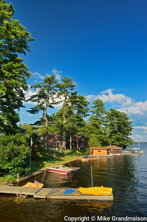 Cottages on Lake Muskoka, Bala, Ontario, Canada