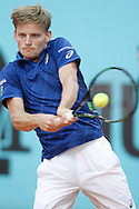 David Goffin during the Madrid Open at Manzanares Park Tennis Centre, Madrid<br /> Picture by EXPA Pictures/Focus Images Ltd 07814482222<br /> 02/05/2016<br /> ***UK &amp; IRELAND ONLY***<br /> EXPA-ESP-160502-0107.jpg