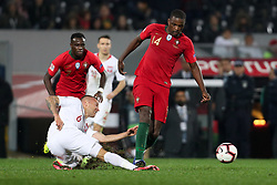 November 20, 2018 - Guimaraes, Guimaraes, Portugal - William Carvalho midfielder of Portugal (R) vies with Jacek Goralski midfielder of Poland (L) during the UEFA Nations League football match between Portugal and Poland at the Dao Afonso Henriques stadium in Guimaraes on November 20, 2018. (Credit Image: © Dpi/NurPhoto via ZUMA Press)