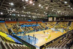 Arena prior to the handball match between RK Celje Pivovarna Lasko and RK Gorenje Velenje in Eighth Final Round of Slovenian Cup 2015/16, on December 10, 2015 in Arena Zlatorog, Celje, Slovenia. Photo by Vid Ponikvar / Sportida