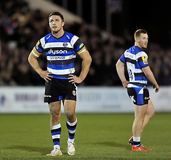 Sam Burgess of Bath Rugby looks on during his first ever game as a rugby union forward - Photo mandatory by-line: Patrick Khachfe/JMP - Mobile: 07966 386802 22/12/2014 - SPORT - RUGBY UNION - Bath - Recreation Ground - Bath United v London Irish A - Aviva A-League
