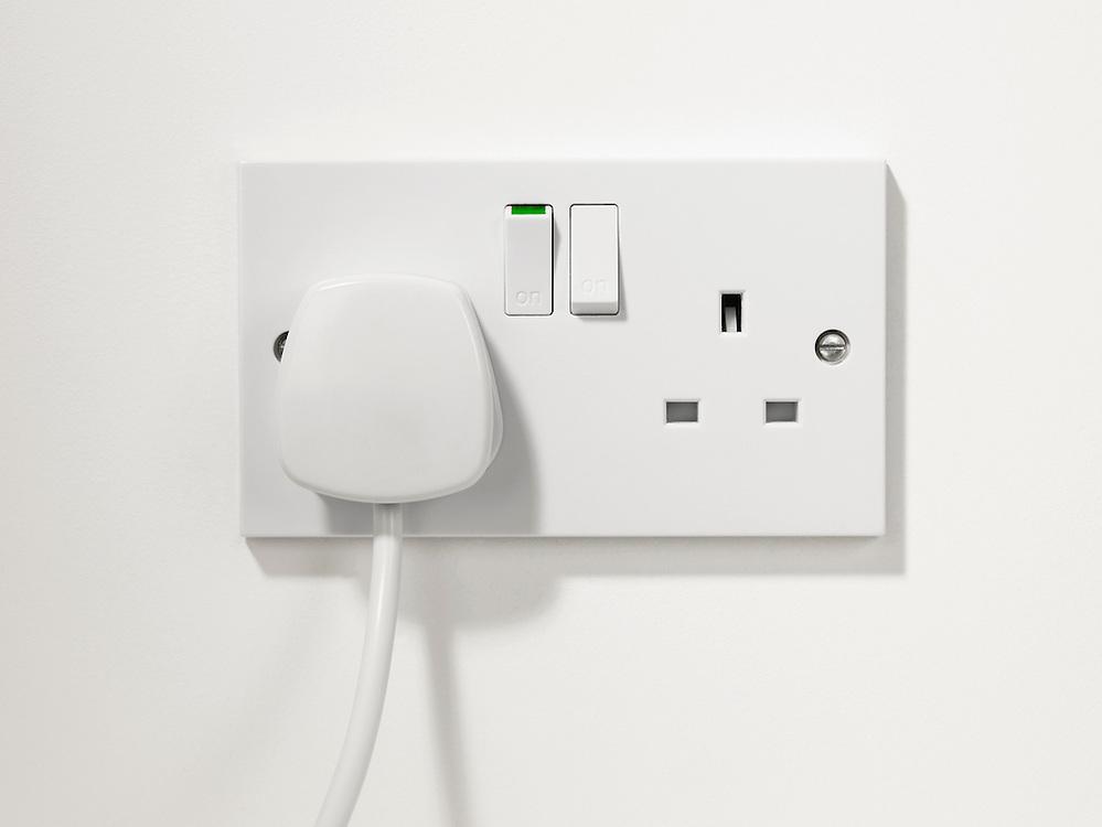 White plug, U.K Plug and socket