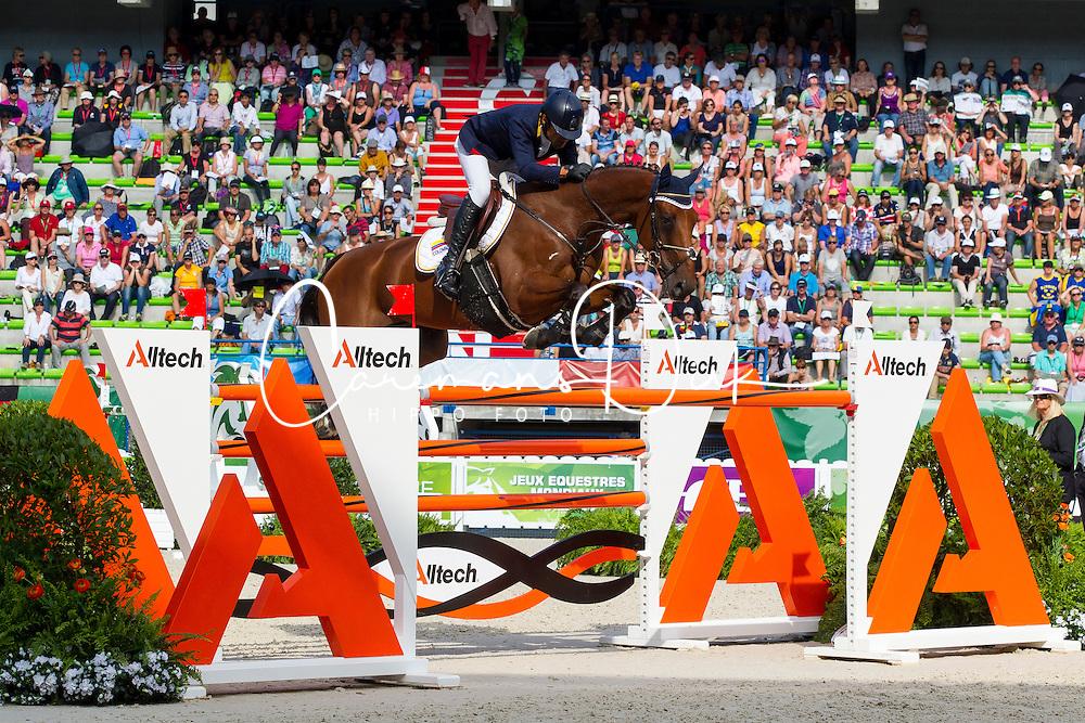 Carlos Lopez, (COL), Prince De La Mare - World Champions, - Second Round Team Competition - Alltech FEI World Equestrian Games™ 2014 - Normandy, France.<br /> © Hippo Foto Team - Leanjo De Koster<br /> 25/06/14