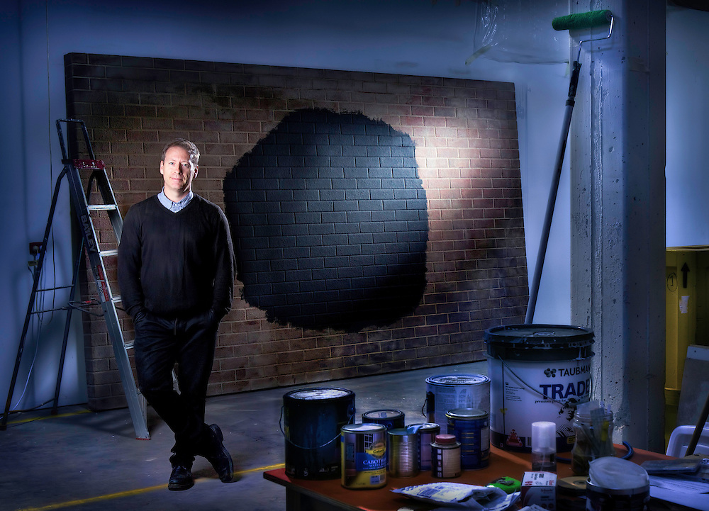 Artists series, Artist, Callum Morton in his West Melbourne Studio. Pic By Craig Sillitoe CSZ/The Sunday Age.1/10/2011 This photograph can be used for non commercial uses with attribution. Credit: Craig Sillitoe Photography / http://www.csillitoe.com<br />
