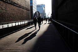 GERMANY HAMBURG 30DEC13 - People walk along the Kibbelsteg in Hamburg's Hafen City.<br /> <br /> <br /> <br /> jre/Photo by Jiri Rezac<br /> <br /> <br /> <br /> © Jiri Rezac 2013