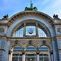 Old Train Station Arch in Lucerne, Switzerland <br />