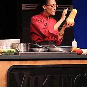 """2011 Taste of Tulalip food & wine seminar emceed by head """"Thirsty Girl"""" Leslie Sbrocco and hosted by Top Chef's """"Fan Favorite"""" Carla Hall."""