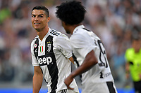 Cristiano Ronaldo of Juventus and Juan Cuadrado of Juventus during the Serie A 2018/2019 football match between Juventus and Genoa CFC at Allianz Stadium, Turin, October, 20, 2018 <br />  Foto Andrea Staccioli / Insidefoto