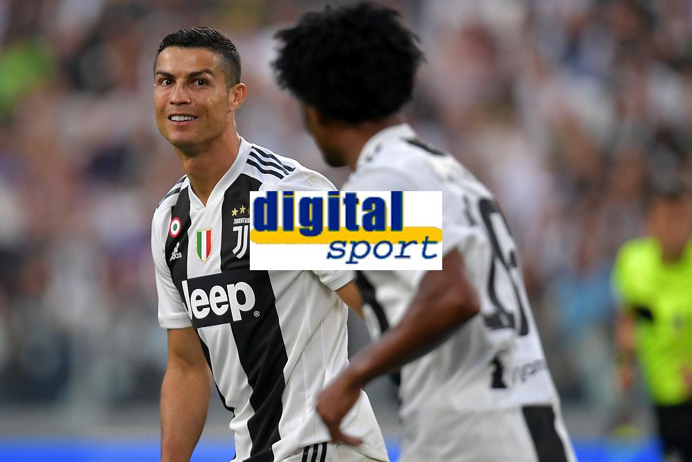 Cristiano Ronaldo of Juventus and Juan Cuadrado of Juventus during the Serie A 2018/2019 football match between Juventus and Genoa CFC at Allianz Stadium, Turin, October, 20, 2018 <br />  Foto Andrea Staccioli / Insidefoto