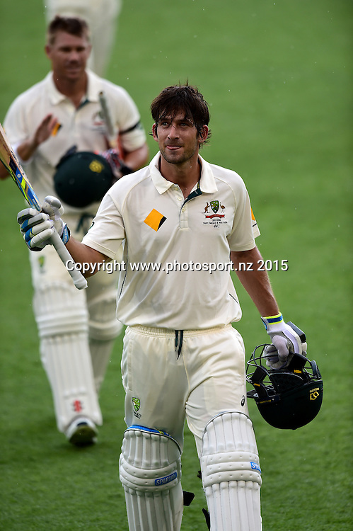 Joe Burns after his maiden test century on Day Three, 7 November 2015. New Zealand Black Caps tour of Australia, 1st test at Brisbane 5-9 November 2015. Copyright photo: www.photosport.nz