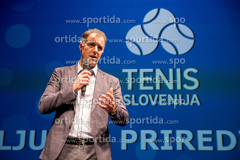 Milan Hosta during Slovenian Tennis personality of the year 2017 annual awards presented by Slovene Tennis Association Tenis Slovenija, on November 29, 2017 in Siti Teater, Ljubljana, Slovenia. Photo by Vid Ponikvar / Sportida