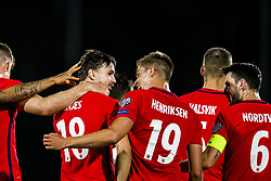 October 5, 2017 - San Marino, SAN MARINO - 171005 Ole Kristian Selnæs of Norway celebrates with his teammates after scoring 6-0 during the FIFA World Cup Qualifier match between San Marino and Norway on October 5, 2017 in San Marino. .Photo: Fredrik Varfjell / BILDBYRÃ…N / kod FV / 150027 (Credit Image: © Fredrik Varfjell/Bildbyran via ZUMA Wire)