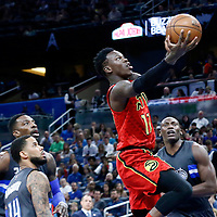 25 February 2017: Atlanta Hawks guard Dennis Schroder (17) goes for the layup during the Orlando Magic 105-86 victory over the Atlanta Hawks, at the Amway Center, Orlando, Florida, USA.