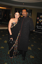 TV presenter CLAR NASIR and actor NITIN GANATRA at the Eastern Eye Asian Business Awards 2007 in the presence of HRH The Duke of York at the Hilton Park Lane, London on 8th May 2007.<br />