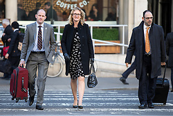 © Licensed to London News Pictures. 18/01/2017. London, UK. Claire Blackman (centre), wife of Sgt Alexander Blackman (also known as Marine A) arrives at the High Court. Today begins an appeal against the life sentence he was given after being convicted of murdering a wounded Taliban fighter in Afghanistan in 2011. Photo credit : Tom Nicholson/LNP