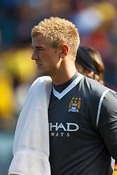 July 16, 2011; San Francisco, CA, USA;  Manchester City goalkeeper Joe Hart (25) enters the field before the game against Club America at AT&T Park. Manchester City defeated Club America 2-0.
