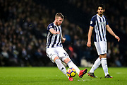 West Bromwich Albion midfielder Chris Brunt (11) takes a free kick during the Premier League match between West Bromwich Albion and Southampton at The Hawthorns, West Bromwich, England on 3 February 2018. Picture by Dennis Goodwin.