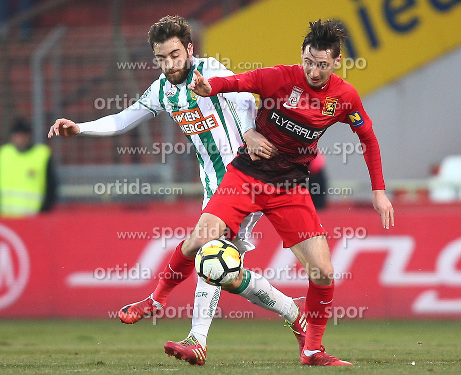 11.02.2018, BSFZ Arena, Maria Enzersdorf, AUT, 1. FBL, FC Flyeralarm Admira vs SK Rapid Wien, 22. Runde, im Bild Thanos Petsos (SK Rapid Wien) und Sasa Kalajdzic (FC Flyeralarm Admira) // during Austrian Bundesliga Football 22nd round match between FC Flyeralarm Admira vs SK Rapid Wien at the BSFZ Arena, Maria Enzersdorf, Austria on 2018/02/11. EXPA Pictures © 2018, PhotoCredit: EXPA/ Thomas Haumer