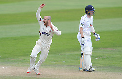 Jack Leach of Somerset appeals   - Mandatory byline: Dougie Allward/JMP - 07966386802 - 11/09/2015 - Cricket - County Ground -Taunton,England - Somerset CCC v Hampshire CCC - LV=County Championship - Day 3