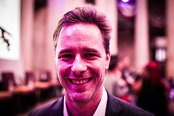 July 27, 2017 - New York, New York, United States - Michael Washburn, author and Director of Programs, Humanities New York during the celebration of the centennial of Women's Suffrage at Federal Hall.  Humanities NY is a foundation that provides access to the humanities for New York State by providing support and grants. (Credit Image: © Sachelle Babbar via ZUMA Wire)