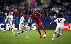 Real Madrid's Casemiro (left) and Sevilla's Steven N'Zonzi