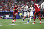 Roberto Firmino of Liverpool against Jan Vertonghen of Tottenham Hotspur during the Champions League Final match between Tottenham Hotspur and Liverpool at Tottenham Hotspur Stadium, London, United Kingdom on 1 June 2019.
