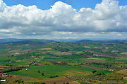 Cloudy landscapes in the Molise countryside in southern Italy.