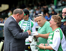 Yeovil Town Manager, Gary Johnson signs a fans program before the game.  - Photo mandatory by-line: Alex James/JMP - Tel: Mobile: 07966 386802 24/08/2013 - SPORT - FOOTBALL - Huish Park - Yeovil -  Yeovil Town V Derby County - Sky Bet Championship