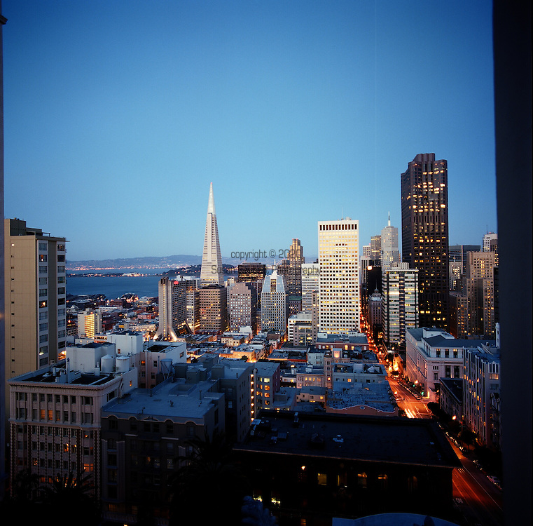 View of the San Francisco Skyline from the Penthouse Suite of the Fairmont San Francisco Hotel