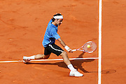 Roland Garros. Paris, France. June 11th 2006..Roger Federer against Rafael Nadal..Men's final.