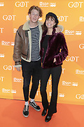 2019, April 15. Pathe ArenA, Amsterdam, the Netherlands. Tom van Kessel and Yldau de Boer at the premiere of Game of Thrones season 8.