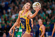 Lightning GS: Caitlin Bassett.<br /> PERTH, AUSTRALIA - AUGUST 26: West Coast Fever vs the Sunshine Coast Lightning during the Suncorp Super Netball Grand Final match from Perth Arena - Sunday 26th August 2018 in Perth, Australia. (Photo by Daniel Carson/dcimages.org/Netball WA)