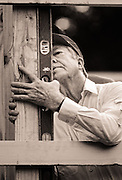 Former president Jimmy Carter works on a Habitat for Humanity house project in Atlanta. Carter is a founding board member and a worldwide ambassador for the nonprofit.