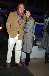 DAVID FLINT WOOD and INDIA HICKS at the opening of the Natural History Museum's Ice Rink on 16th November 2005.<br />