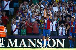 Goal, Scott Dann of Crystal Palace scores, Crystal Palace 2-0 Aston Villa - Mandatory byline: Jason Brown/JMP - 07966386802 - 22/08/2015 - FOOTBALL - London - Selhurst Park - Crystal Palace v Aston Villa - Barclays Premier League